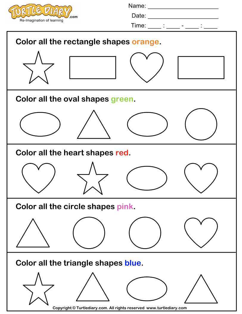 Identify and Color Shapes