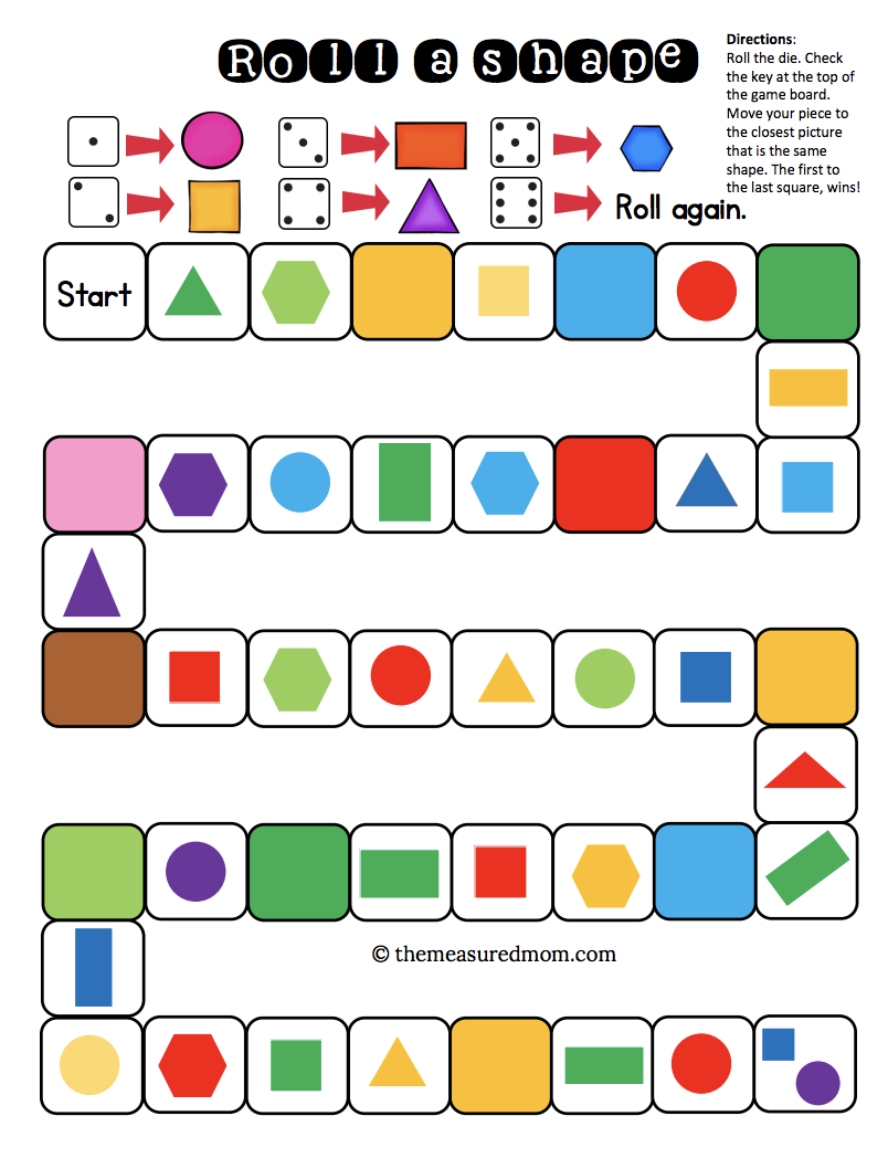 Free shape identification games