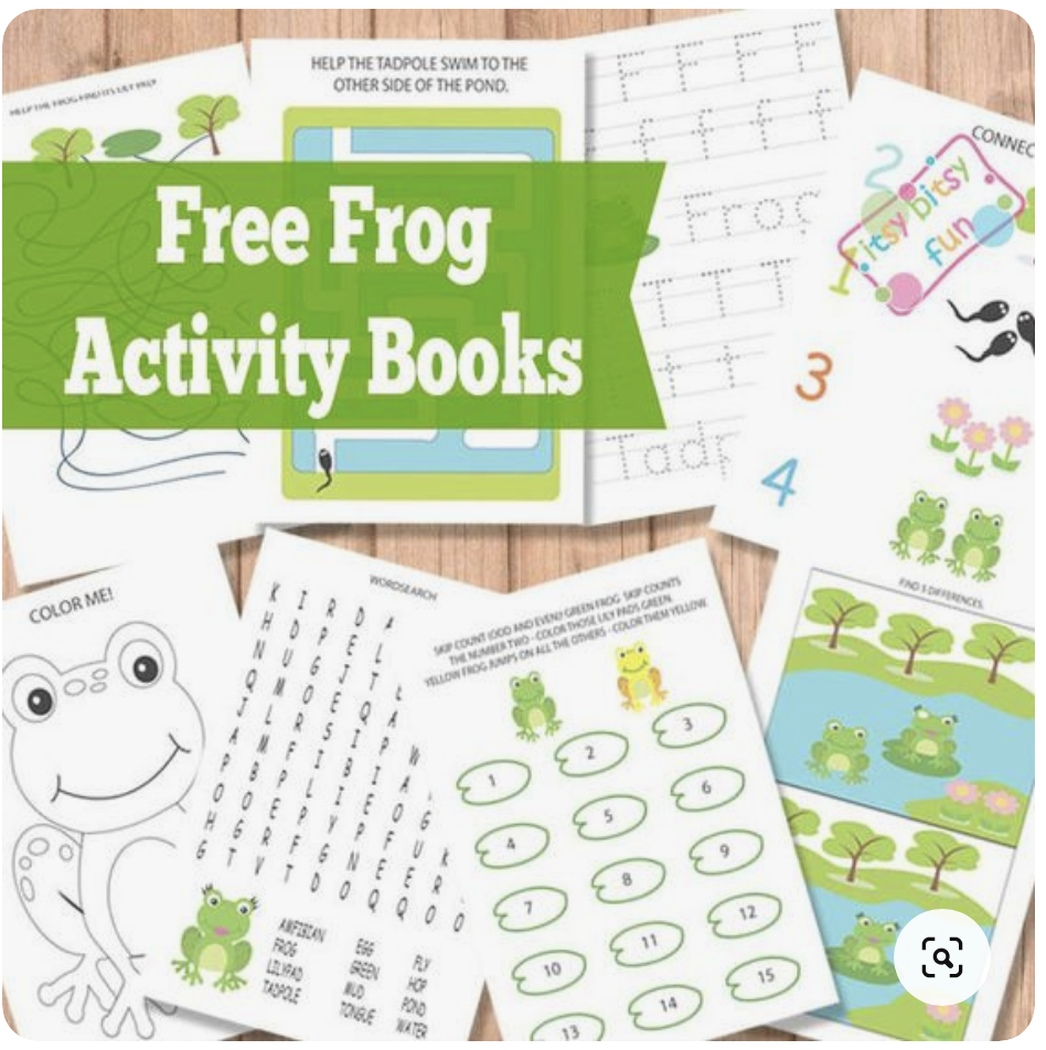 Free Frog Activity Books
