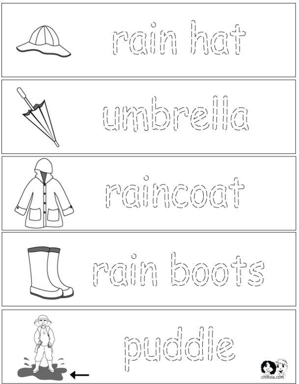 Collection Of Rain Worksheets For Preschool
