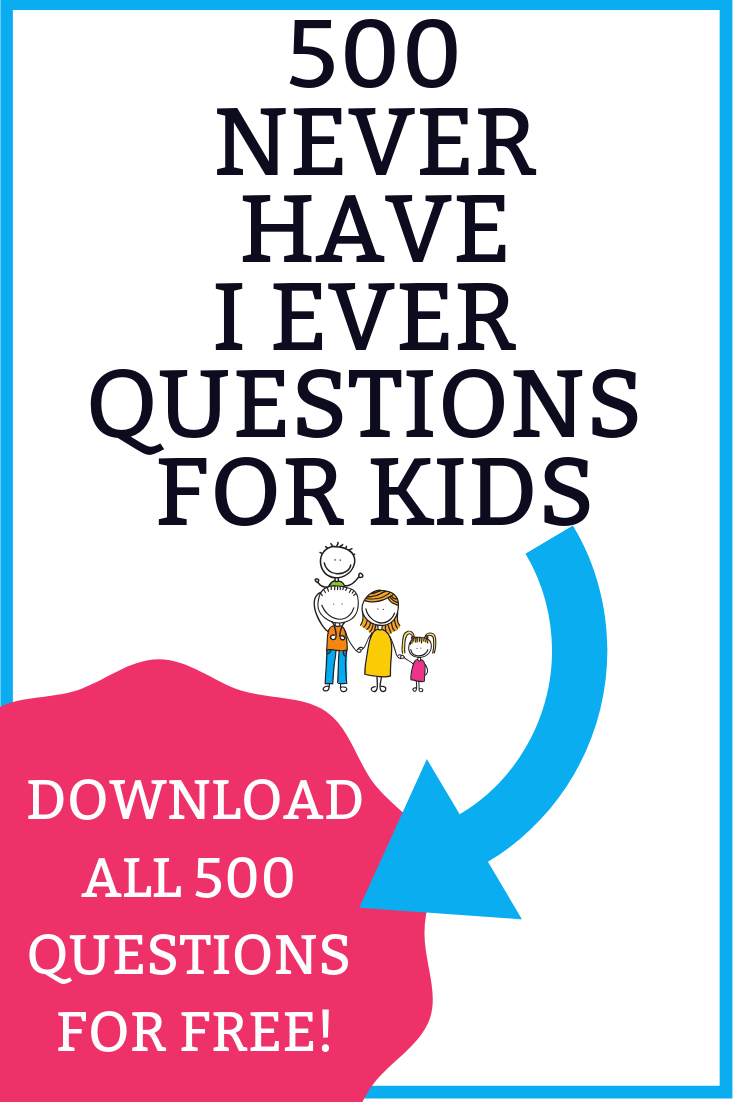 500 Never Have I Ever Questions For Kids