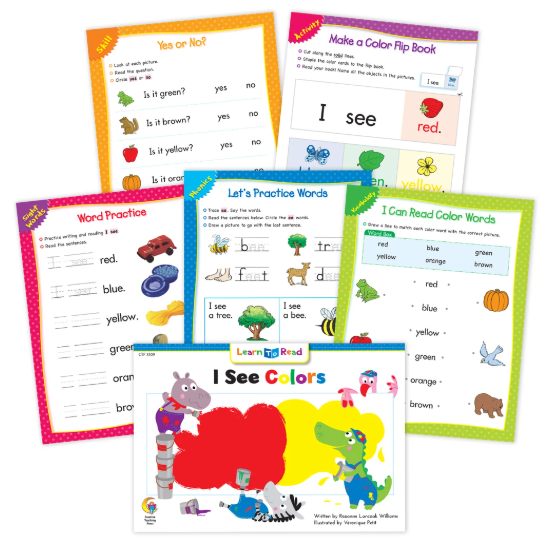 I See Colors Worksheets