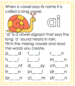 Long A Vowel Sounds