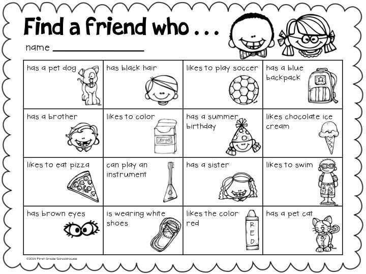 Friendship Worksheets