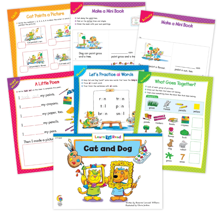 Cat and Dog Worksheets