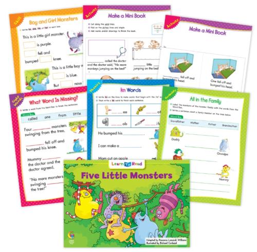 Five Little Monsters Worksheets