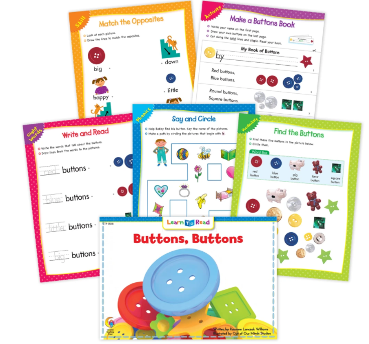 Buttons, Buttons Worksheets